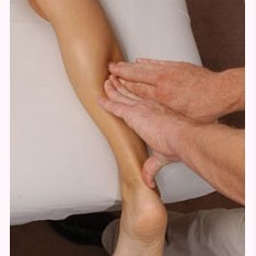 Finger Pressure on Back of Calf Muscle